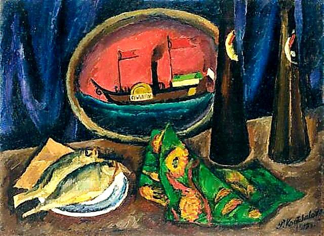 Pyotr Konchalovsky - Still Life. Beer and Roach, 1912