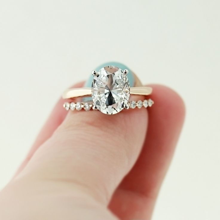 Perfect rose gold engagement ring! - Abbey. Love the color of the rose gold