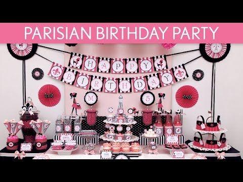 Parisian Birthday Party Ideas // Parisian - B105 - YouTube