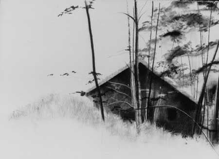 Landscape Charcoal Drawings | Hidden Vermont: landscape #2, charcoal drawing
