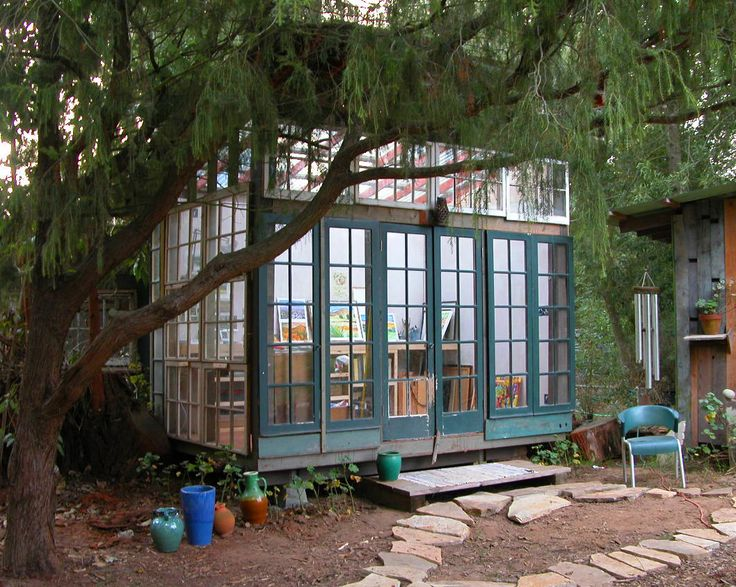 studio: Artists Studios, Dreams Studios, Studios Spaces, Art Studios, Gardens, Old Window, Backyard Studios, Jeff Shelton, Glasses Houses