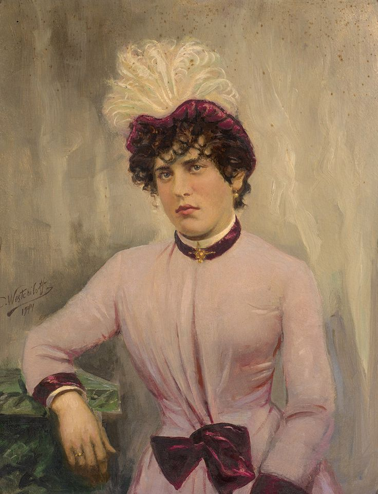 Константин Вещилов - Портрет дамы в розовом, 1944