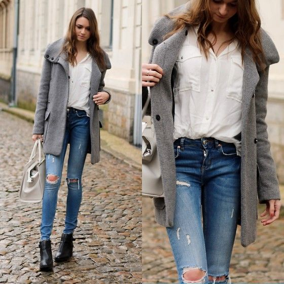 Get this look: http://lb.nu/look/7938568  More looks by Audrey: http://lb.nu/audrey_c  Items in this look:  Zara Coat, Gina Tricot Oversize Shirt, Gina Tricot Skinny, Forever 21 Boots, Primark Bag   #chic #classic #street #winter #ginatricot #zara #cozy #shirt #skinny