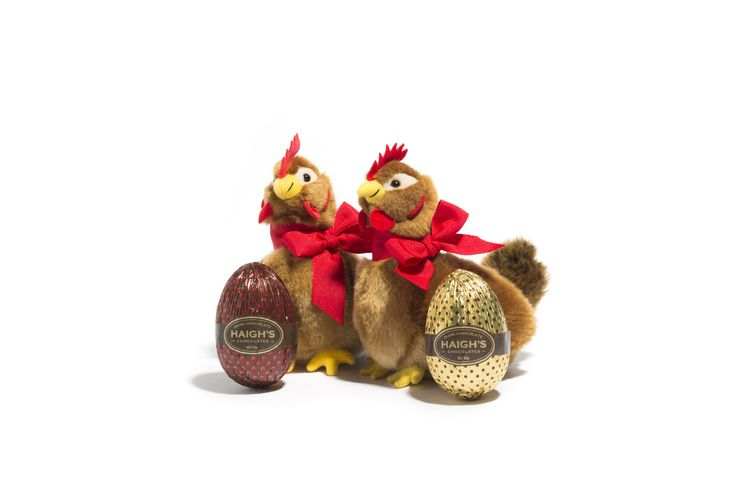Bright, colourful and fun we have a delightful collection of Easter gifts for the young and the young at heart. Roosters, hens, chickens, ducks and eggs galore. Instore and online