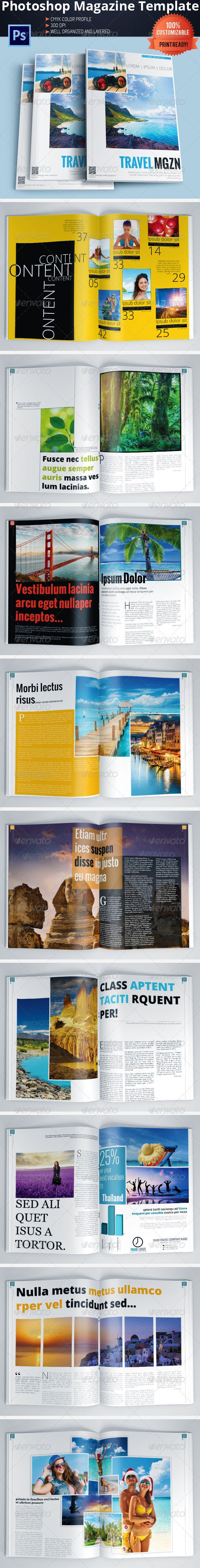 Travel Magazine Template — Photoshop PSD #photoshop #mag • Available here → https://graphicriver.net/item/travel-magazine-template/5857858?ref=pxcr