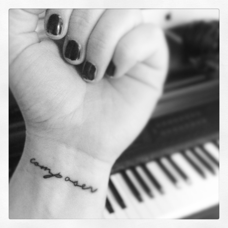 Composer Music Tattoo : Words, Lettering, Writing, Labeled