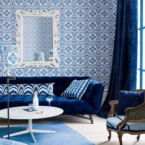 blue rooms living room couches modern living rooms blue patterns royal