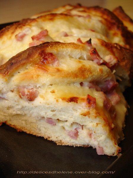 brioche salée jambon-fromage