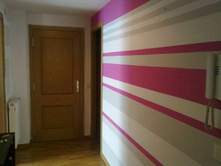 Pintura a rayas en paredes ideas de disenos for Paredes juveniles pintadas