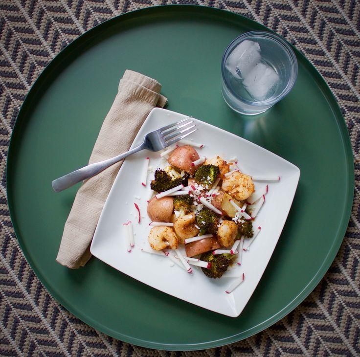 Simple Shrimp and Veggies Sheet Pan