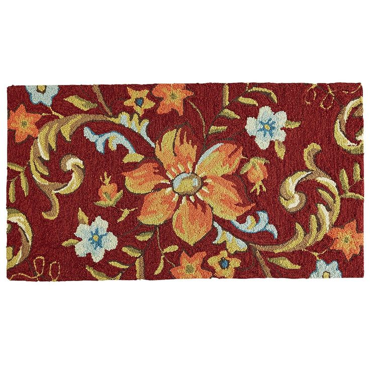 Cloud Step Flower Memory Foam Rug Red Pier 1 Imports
