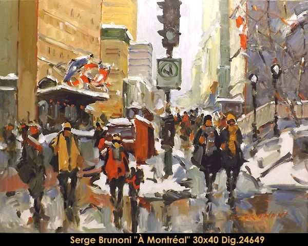 Original acrylic painting on canevas by Serge Brunoni new BOOK available october 19,2014 #sergebrunoni #art #artist #canadianartist #quebecartist #originalpainting #fineart #figurativeart #acrylicpainting #winterscene #cityscene #Montreal #balcondart #multiartltee