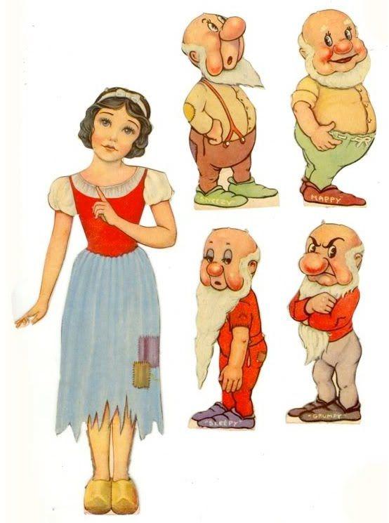 vintage Snow White paperdolls  Auf filmic-light.blogspot.com