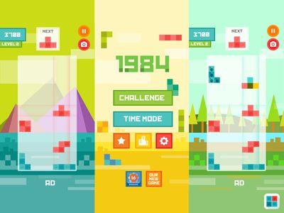 Dribbble - Tetris Flat IOS Game by Igor Radivojevic