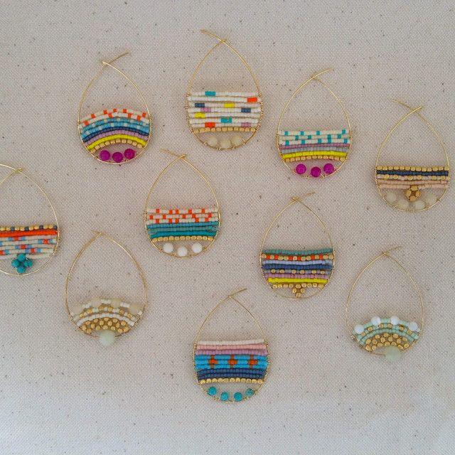 Easy Diy Idea: boucles d'oreilles avec du fils alu et des perles