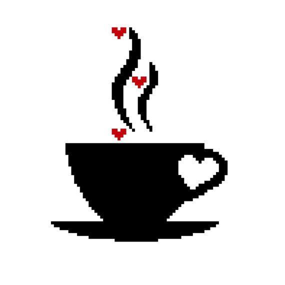 un amour de café modèle de point de croix par PrincesseNature