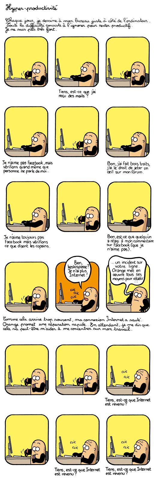 #Organisation #Procrastination #Geek Illustration par Martin Vidberg.