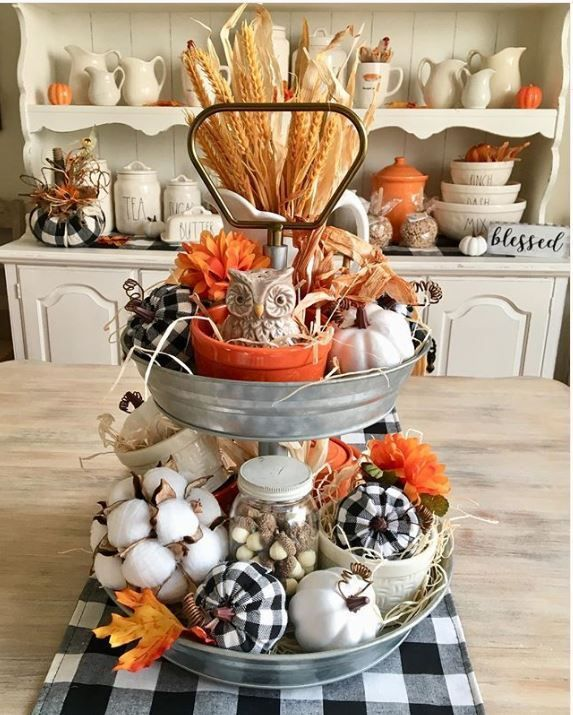 21 Best Tiered Tray Decor Ideas For Fall Fall Tray Tray Decor Tiered Tray Decor