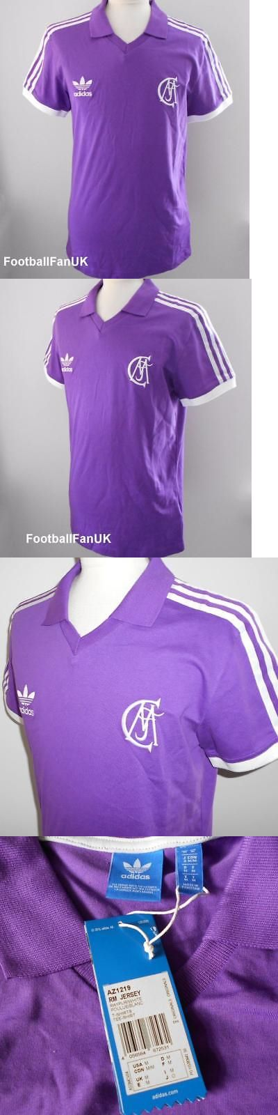 Other Soccer Clothing and Accs 159179: Real Madrid Adidas Originals Retro Purple Away Shirt New M,L Camiseta Bnwt -> BUY IT NOW ONLY: $54.03 on eBay!