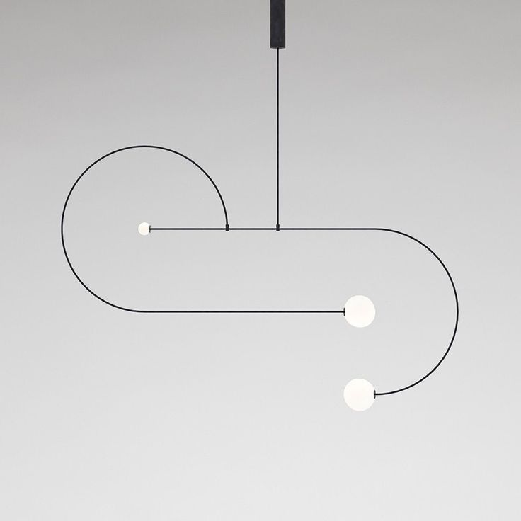 Here are five new minimalist luminaires that make the difference in 2017, and that will give your interior an avant-garde effect for sure. Michael Anastassiades   Mobile Chandelier series   Mobile Chandelier 13   brand new fixtures   new lighting   new lamps   pendant lighting   black pendant   black lighting   minimal design   minimalist design   minimal decor   minimal floor lamp   Salone del Mobile 2017   Euroluce   black and white