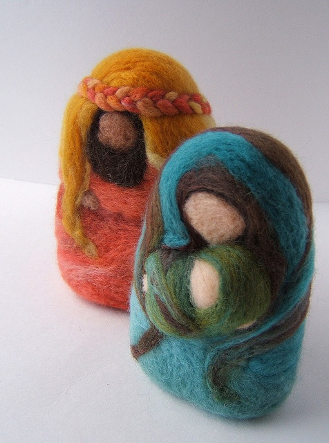 needle felted holy family