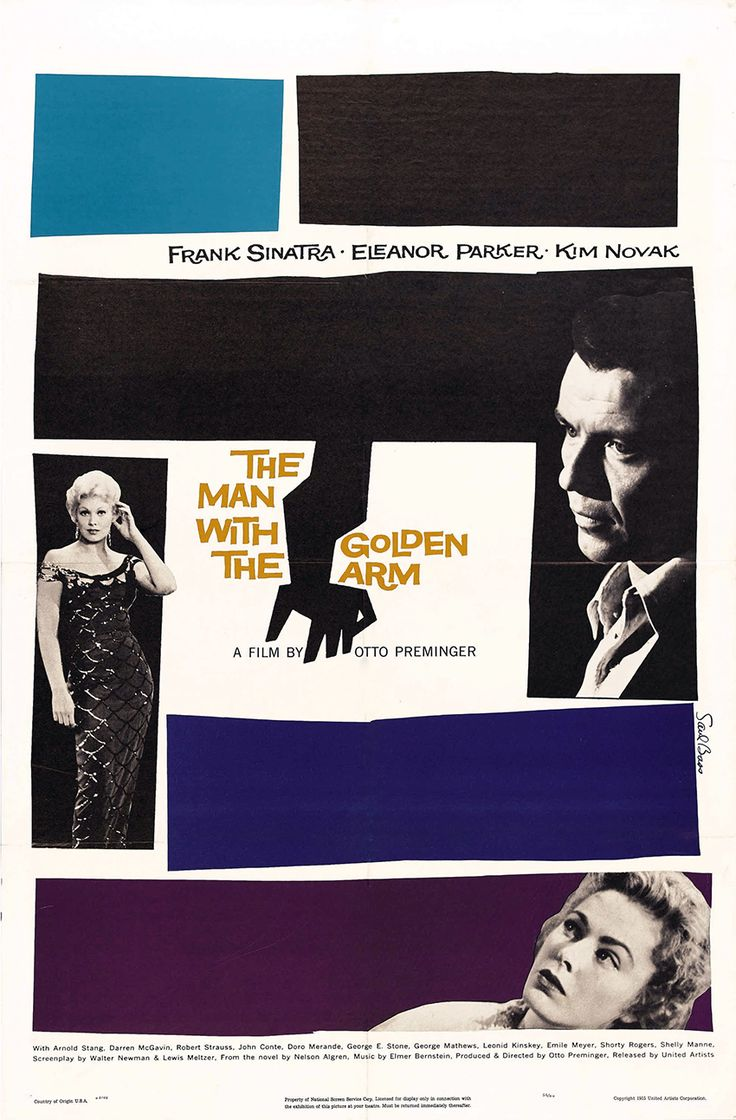 Poster design wikipedia - The Man With The Golden Arm Movie Poster Saul Bass