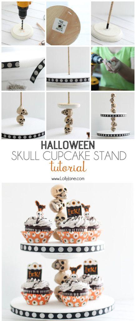 Halloween skull cake stand, full tutorial!