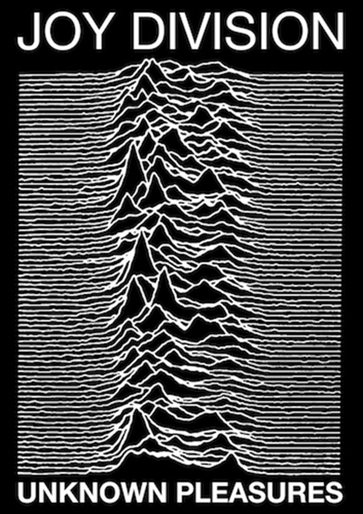 """Joy Division - Unknown Pleasures Poster - Black & White - Measures: 24"""" x 36"""" - Comes Rolled"""