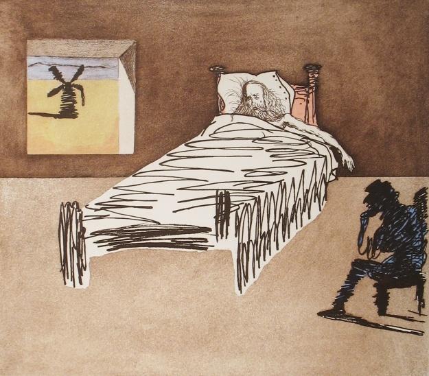 La muerte de Don Quijote.