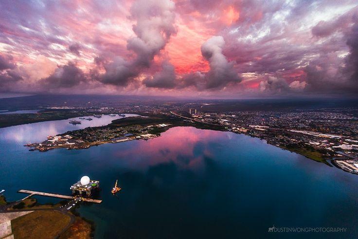 Перл-Харбор гавань на острове Оаху (Гавайи)