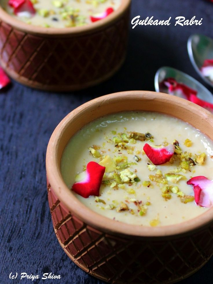 Gulkand Rabri Indian Dessert RecipesIndian