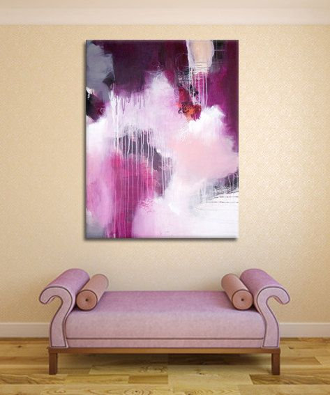 Original large abstract painting modern painting by ARTbyKirsten