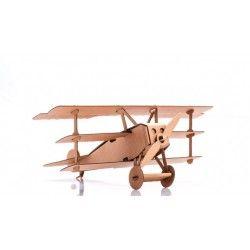 ♡Leolandia Kartonnen vliegtuig bouwpakket 3♡  Bouwpakket van kartonnen vliegtuig (rode baron). Geschikt voor kinderen vanaf 3 jaar. ~Leolandia~