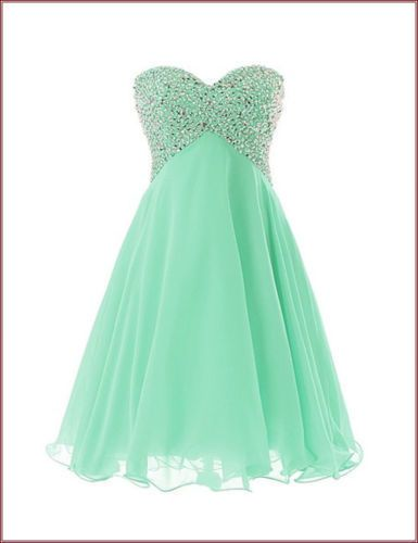 Cool Great Stock US10 mint green Short Bridesmaid gown Prom Evening Party Homecoming dresss 2017-2018