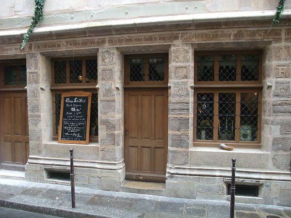 Paris, France House of Nicolas Flamel  The oldest stone house in Paris was built by its most famous alchemist