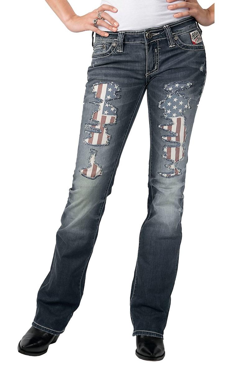 Affliction® Ladies Jade Patriot Crossroads Boot Cut Jeans | Cavender's Boot City