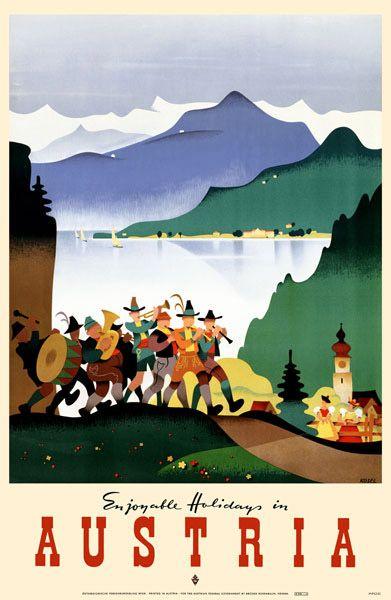 Austria poster  #vintage #travel #poster