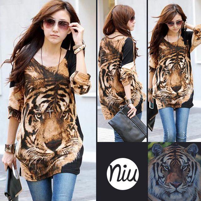Bluson estampado de tigre, encuentra esto y mucho más en: www.niuenlinea.co