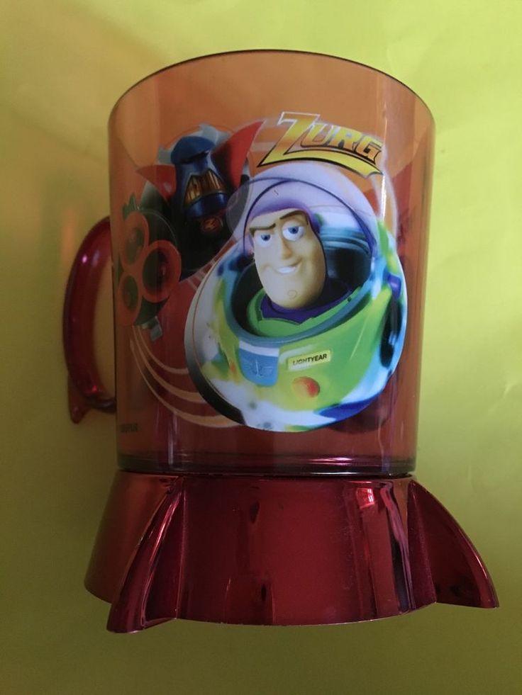 Disney Store Toy Story Zurg Buzz Acrylic Cup Mug Red 2 Sided Rare  | eBay