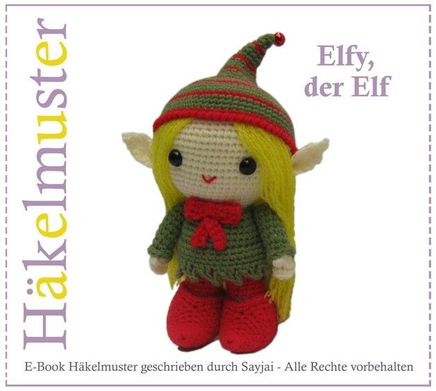 Elfy, der Elf - PDF Amigurumi Häkelanleitung