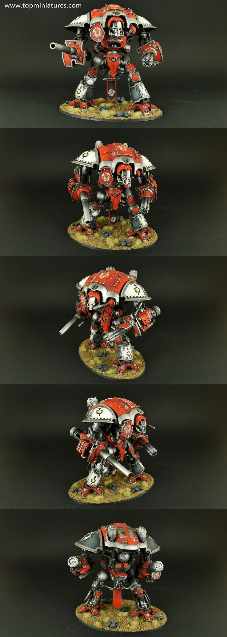 Warhammer 40k white black red imperial knight