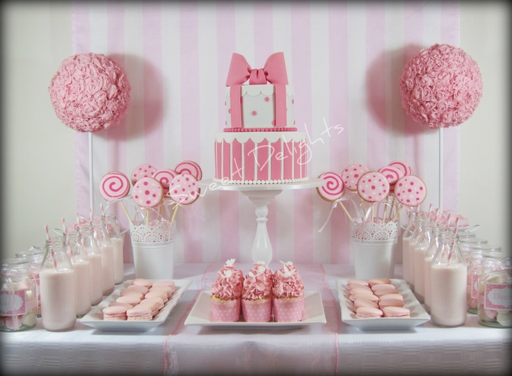 Pink And White Party My Daughters 7th Birthday Party Parisian