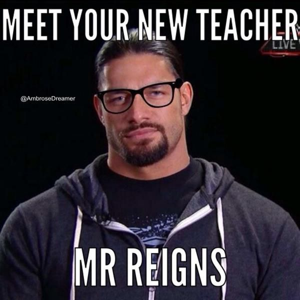 GIRL: HOT TEACHER ME: HEY!! THAT IS MY HOT TEACHER GET AWAY FROM HIM *spears girl* ROMAN: thanks babe! Me: your welcome *kisses Roman* (HE IS MINE GIRLS FROM @xoSpearGirl