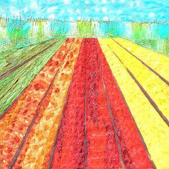 Textielkunst: Voorjaar