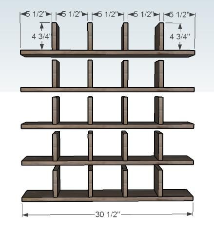 Ana White   Build a 25 Cubbies on the Wall   Free and Easy DIY Project and Furniture Plans