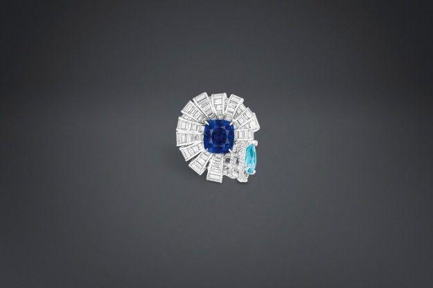 Anello con zaffiro Archi Dior