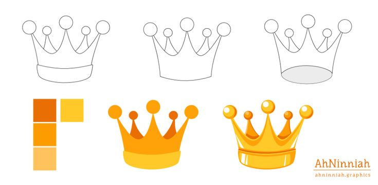 Inkscape tutorials | How to draw a crown