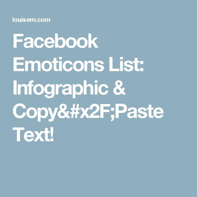 Facebook Emoticons List: Infographic & Copy/Paste Text!