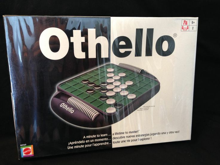 Othello Game by Mattel Factory Sealed Black Board Green Top Previous Version #Mattel