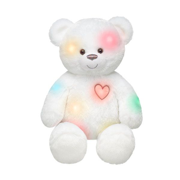 SO cute!!!  From build a bear...you squeeze him and he lights up like a nightlight!!  Love this :)  16 in. Hugs So Bright Teddy - Build-A-Bear Workshop US